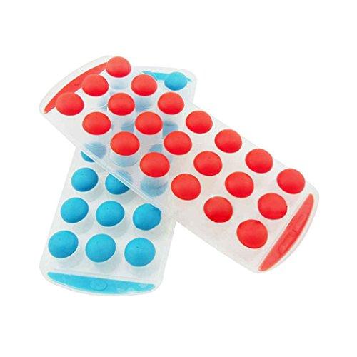 Korowa 21 Balls Dots Plastic Silicone Ice Fusion Mold Cube Lattice Tray Ice-making Box Kitchen Cooking Tool 0 28.5 12 (Lattice Plastic Balls)