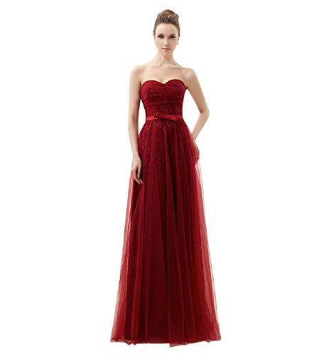 Rot Kleid Rot Damen Emily Fashion Beauty 8TZcqgPy