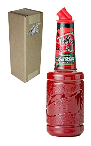 Finest Call Premium Strawberry Puree Drink Mix, 1 Liter Bottle (33.8 Fl Oz), Individually Boxed