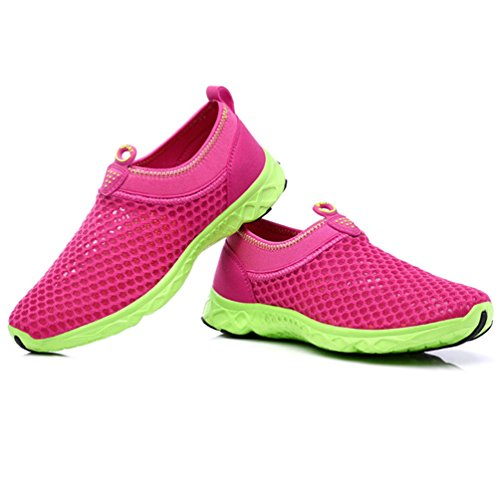 XIGUAFR Zapatillas de Adulto Unisex Lona Walking de rosa Nordic rojo q4Pprwqf