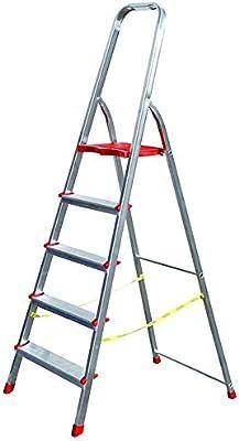 Sicos: escalera de 3 a 8 peldaños de aluminio modelo Domina, 150 kg de carga máxima.: Amazon.es: Bricolaje y herramientas