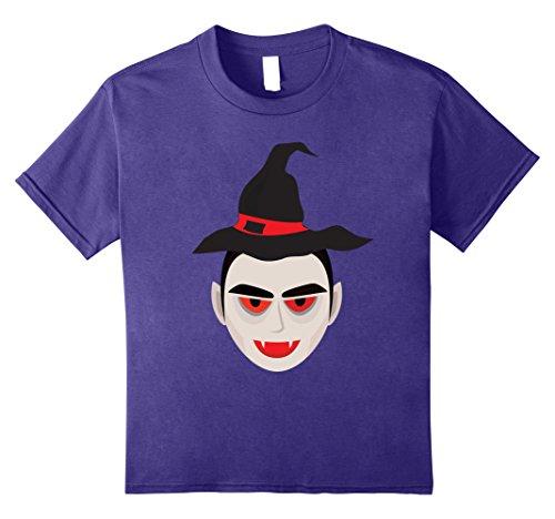 Dracula's Wife Halloween Costume (Kids T-Shirt Funny Vampire Witch Hat Halloween Orange October 10 Purple)