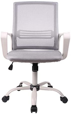 SMUGDESK Ergonomic Swivel Task Computer Desk Home Office Chair with Wheels and Arms, Gray