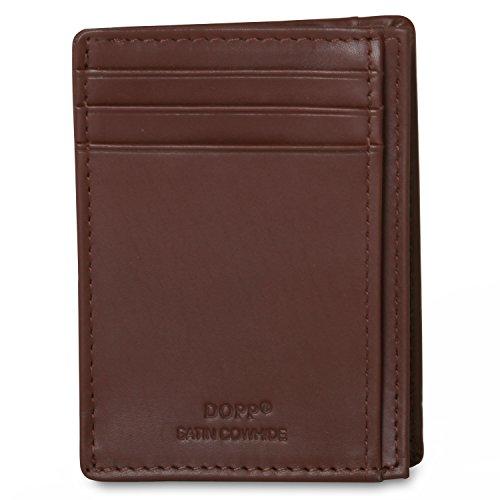(Dopp 100% Genuine Leather Regatta 88 Series Front Pocket Getaway Wallet ID Credit Card Holder (RFID Potected, Cognac))