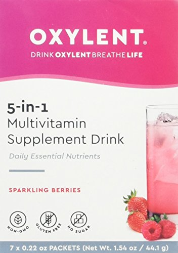 Oxylent, Sparkling Berries 7 Day Supply Box, 1.61 oz Review