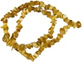 Beads, Cat's Eye Fiber Optic Khaki Colored Chips - 15""
