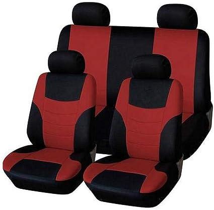 8pcs Auto Sitzbezüge Universal Schwarz Set Autositzbezug Schonbezug Sitzbezug Für Das Auto Sitzbezüge Autositz Rot Auto