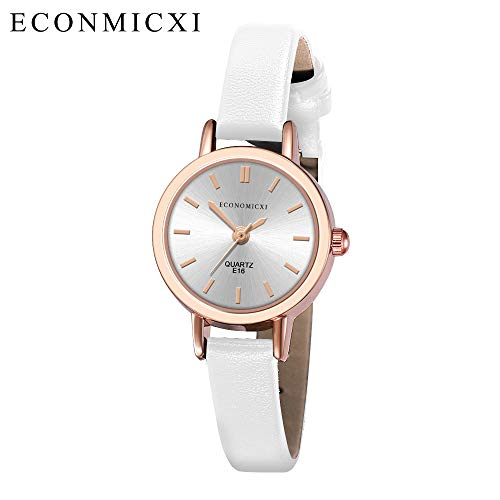 Women's Leather Strap Watches Fashion Casual Waterproof Quartz Analog Round Dial Wrist Watch Gifts (B, Free size) (Best Guitar Amp Sim 2019)