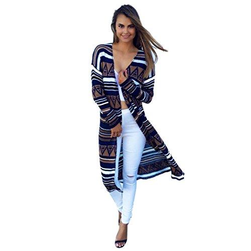 Sweater Coat Sandistore Womens Casual Long Sleeve Cardigan Autumn Sweater Coat (XL, Multicolor)
