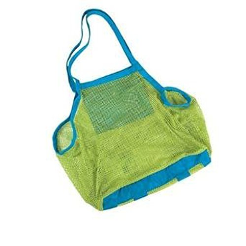 - Yookat Beach Mesh Tote Bag Beach Toys/Shell Bag Stay Away from Sand for The Beach, Pool, Boat - Perfect for Holding Childrens' Toys (XL Size)