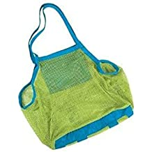 Beach Mesh Tote Bag - Yookat Beach Toys/ Shell Bag Stay Away from Sand for the Beach, Pool, Boat - Perfect for Holding Childrens' Toys (Xl Size)