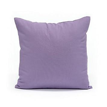 16u0026quot; X 16u0026quot; Solid Lavender Throw Pillow Cover
