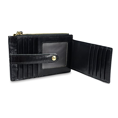 Onstro RFID Blocking Wallets for Women Genuine Leather Multi Credit Card Organizer with ID window by Onstro (Image #4)