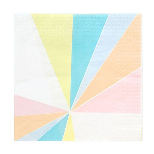 My Little Day Pastel Burst Paper Luncheon Napkins (20 ct) (Blue Napkins Luncheon Pastel)