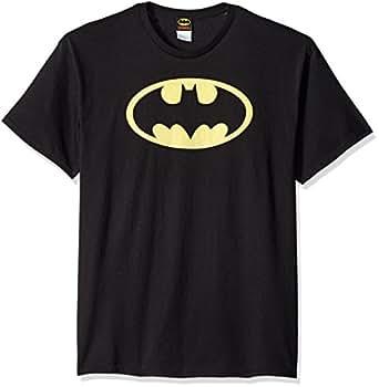 Batman Classic Logo Adult T-Shirt, Large in Black