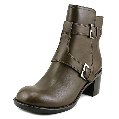 Nine West Women's Lorena Leather Boot, Dark Green, 11 M (Nine West Green Boots)