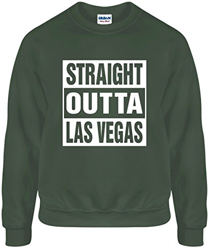 Mighty Ambitious Straight Outta LAS Vegas Large Funny Unisex Mil Green - Of Vegas Las Shops Mile