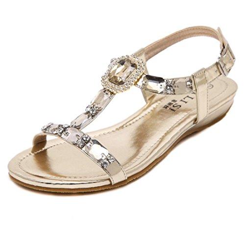 la Mujer para Sandalias la Mujer Agua La de Golden Playa vertientes Perforación Zapatos Pulsera de y de Sandalias Mujer Coreana Versión Sandalia Zapatos con Biselado IXvIq