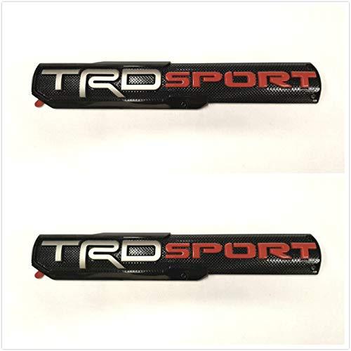 Dinona T-2ST Pair TRD Sport Sport Side Fender Front Door Badge Nameplates Emblems For Tacoma Tundra