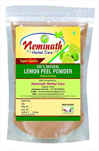 Lemon Peel (Citrus Limon) Powder 100 gm (3.52 OZ)