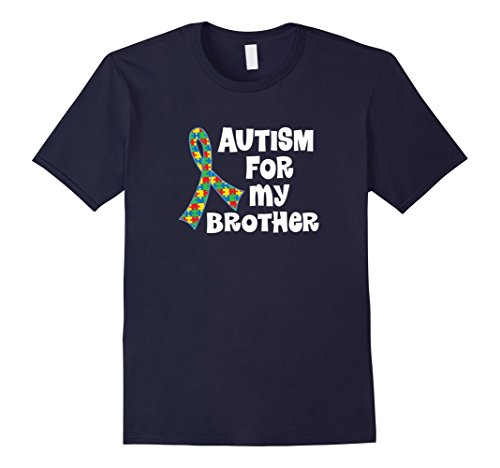 Men's Autism For My Brother Puzzle Ribbon Awareness T-shi...