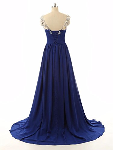 Cap Ballkleid Abendkleider 2016 Formelle Green Crystal Empire Fanciest Sleeve Damen Lang Gowns O6A4q6S
