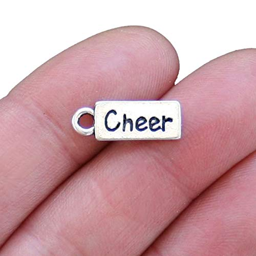 - 6 Cheer Charms Antique Silver Tone - SC2622