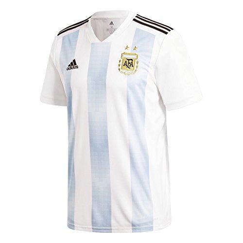 Adidas Argentina 2018 Home Replica Jesey White/Light Blue L