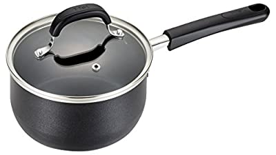 T-fal C03724 OptiCook Hard Anodized Thermo-Spot Titanium Nonstick Oven Safe Saucepan Cookware, 3-Quart, Black