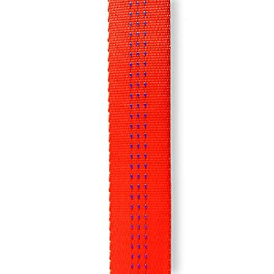 Tubular Webbing 1 inch x 10 yards (30ft) Super Bright Safety Orange with 3 Tracer Smooth Made in USA