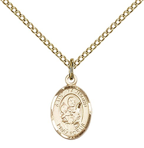 14kt Gold Filled St. Raymond Nonnatus Pendant with 18