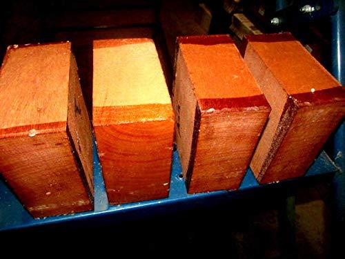 Four KILN Dried African Mahogany Bowl Blank Lathe Turning Lumber Wood 6 X 6 X 3''