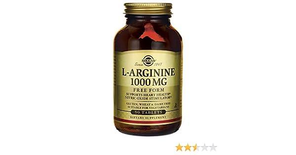 Solgar L-Arginina Comprimidos de 1000 mg- Envase de 90
