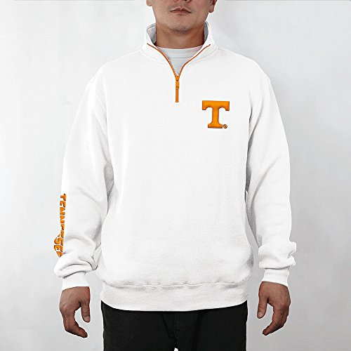 Tennessee Volunteers Quarter Zip Sweatshirt Captain White - XL