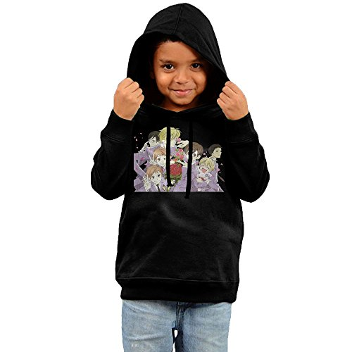 Toddler Cool Ouran High School Host Club 100% Cotton Long Sleeve Hoodies Black US Size 4 Toddler