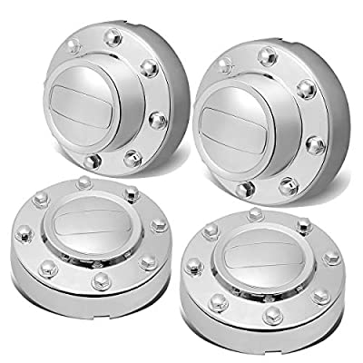 DNA MOTORING ZTL-Y-0129 4Pcs Polished Wheel Rim Center Hub Cap Front+Rear: Automotive