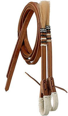 - Royal King Braided Natural Rawhide Split Reins Horse Tack Equine 45-864