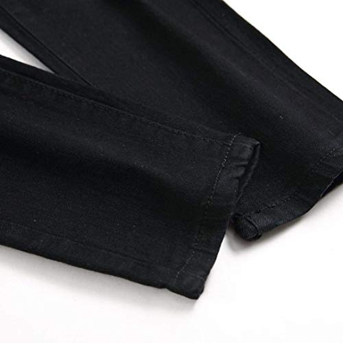 Hombres Agujeros Stretch Summer Sport Streetwear Cher Pants Motos Jeans Joven Closure Fit Negro Chino Cargo Ripped Slim Pantalones Denim RxrPCqwnR