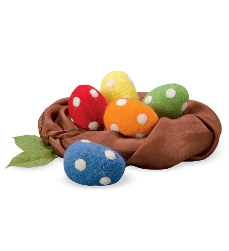 Felt Easter Eggs, set of 5