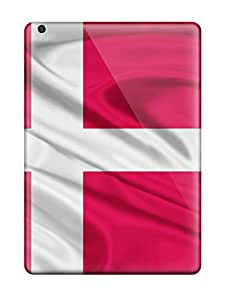Ipad Cover Case - Denmark Flag Red White World Nature Other Protective Case Compatibel With Ipad Air