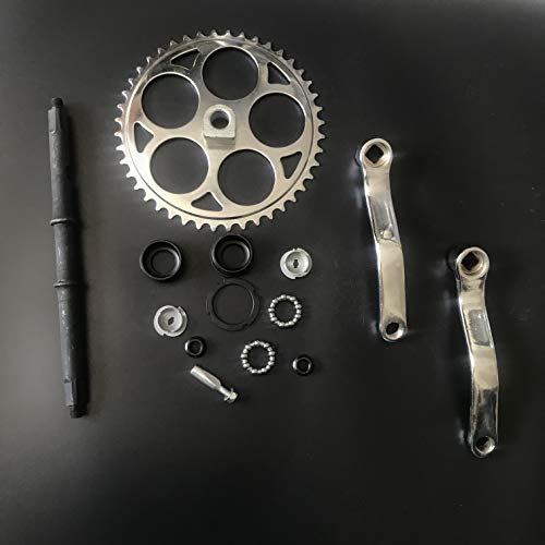dolphin1986 44T Sprocket Wide Crank Assembly Kit -3pcs, for 4-Stroke Motor,Gas Motorized Bicycle by dolphin1986 (Image #2)