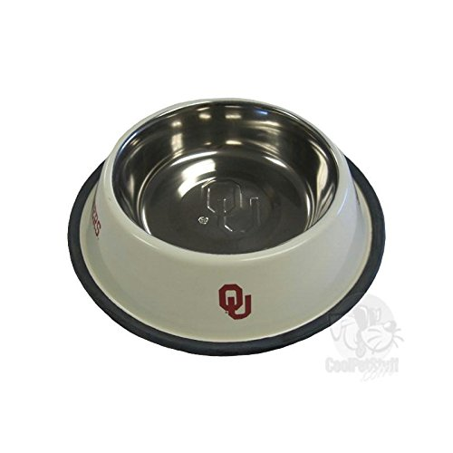Pet Care Preferred Oklahoma Sooners Stainless Steel Pet Bowl by Pet Care Preferred