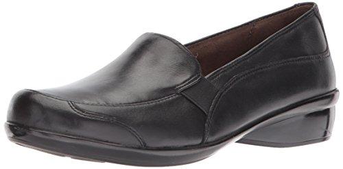 NATURAL SOUL Women's Carryon Loafer Flat, Black, 11 M US