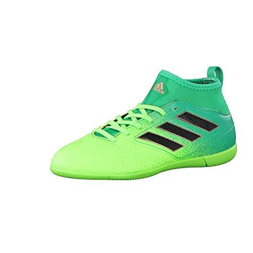 Adidas ACE 17.3 in J, Scarpe per Allenamento Calcio Unisex – Bambini, Verde (Versol/Negbas/Verbas), 37 EU