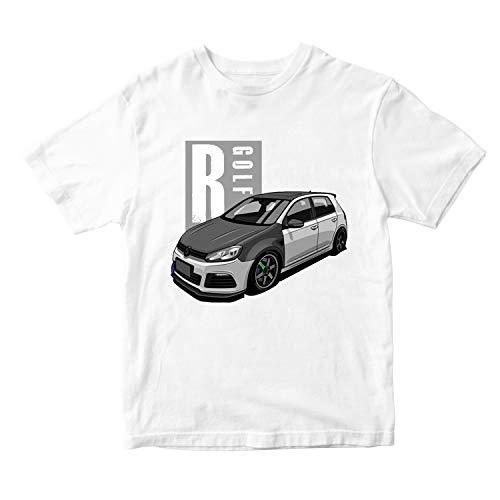 Freshvine JMD Car T Shirt (Golf R) Hombres Cuello Redondo ...