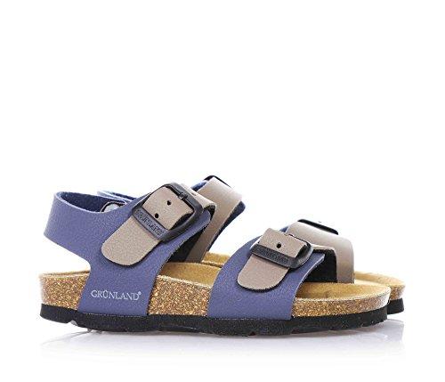 Grunland Luce boys, cuir lisse, sandales