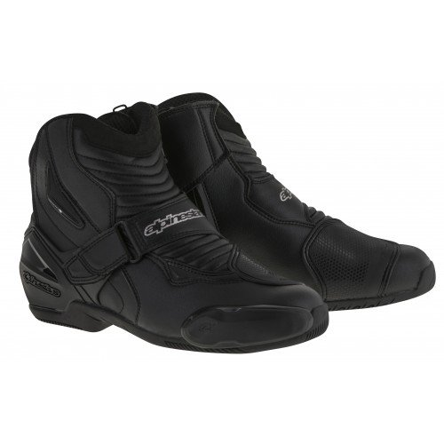 Smx 1 Riding Shoes - Alpinestars SMX-1R Men's Street Motorcycle Boots - Black / 41
