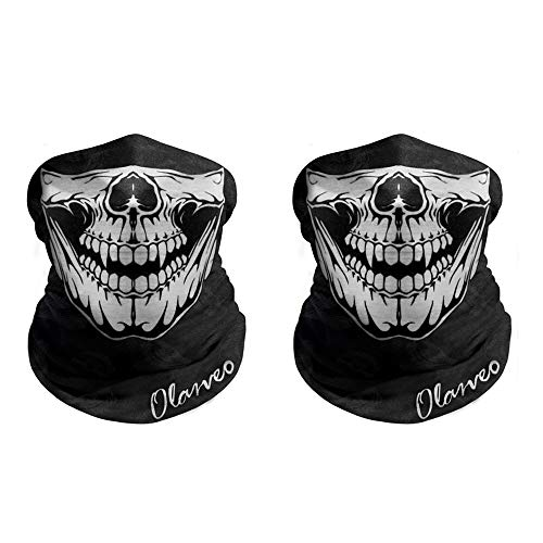 Breathable Seamless Tube Skull Face Mask half with