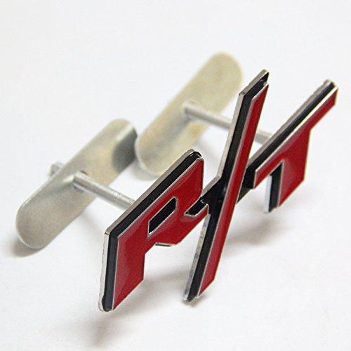 Btopars Metal Red RT R/T Badge Front Grille Emblem For Dodge Charger Challenger Ram Avenge