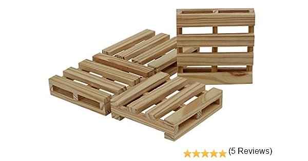 Compra SouvNear Posavasos, diseño de madera de pino – hecho a mano palet posavasos para tazas de té, café tazas – Mesa de comedor y accesorios, madera, Pine Wood Coasters, Square. en